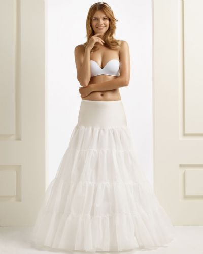 three hooped bridal petticoat with four ruffles